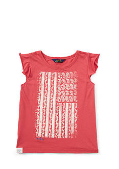 Ralph Lauren Childrenswear Jersey Graphic Tee Girls 7-16