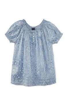 Ralph Lauren Childrenswear Gauze Bandana Boho Top Girls 7-16