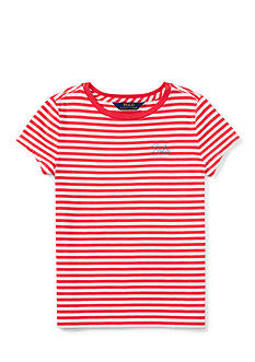 Ralph Lauren Childrenswear Short Sleeve Stripe Top Girls 7-16