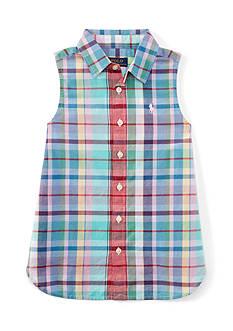 Ralph Lauren Childrenswear Madras Top Girls - 7-16