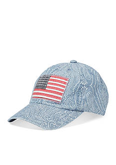 Ralph Lauren Childrenswear Chambray Flag Hat Girls 7-16