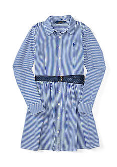 Ralph Lauren Childrenswear Bengal Striped Dress Girls 7-16