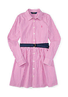 Ralph Lauren Childrenswear Bengal Striped Dress Girls 4-6x