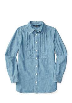 Ralph Lauren Childrenswear Chambray Shirt Girls 7-16