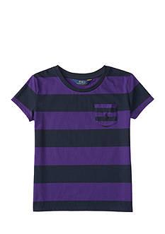 Ralph Lauren Childrenswear Jersey Stripe Tee Girls 7-16