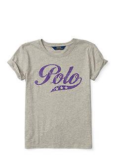 Ralph Lauren Childrenswear Jersey Polo Tee Girls 7-16