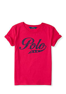Ralph Lauren Childrenswear Jersey Polo Tee Girls 7-16