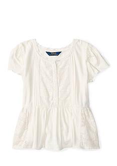 Ralph Lauren Childrenswear Jersey Lace Top Girls 7-16