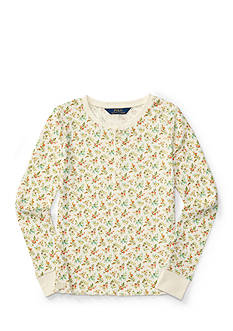 Ralph Lauren Childrenswear Floral Henley Top Girls 7-16
