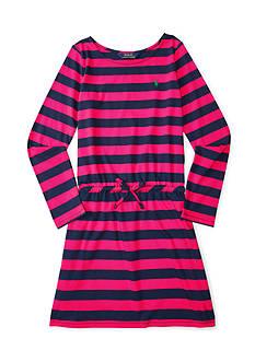 Ralph Lauren Childrenswear Jersey Stripe Dress Girls 7-16