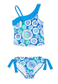 Beach Native Dazzling Medallions Tankini Girls 7-16