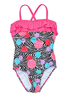 Beach Native Zebra Bubble One Piece Girls 7-16