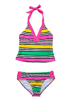 Beach Native Sixties Stripe Tankini Girls 7-16