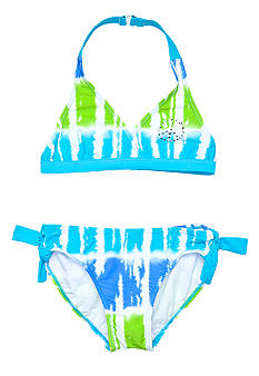 Beach Native 2-Piece Surf's Up Stripe Bikini Girls 7-16