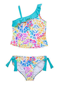 Beach Native Tie Dye Burst Tankini Girls 7-16