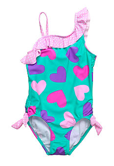 Beach Native Led by Love Swim Suit Girls 4-6X