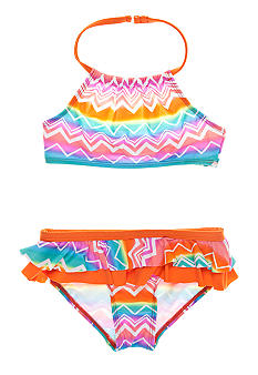 Beach Native Beach Chevron 2-piece Swim Suit Girls 4-6X