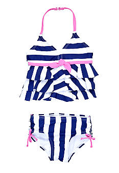 Beach Native Bluto Stripes 2-piece Swimsuit Girls 4-6X