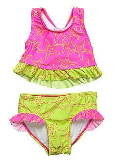 Beach Native Sandy Stars 2-piece Swim Suit Girls 4-6X