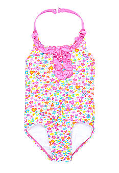 Beach Native I Love Springtime 1-piece Swimsuit Girls 4-6X