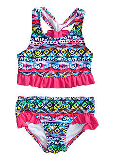 Beach Native Tribal Heart Tankini Girls