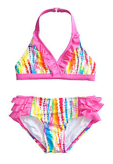Beach Native 2-Piece Rainbow Swimsuit Girls