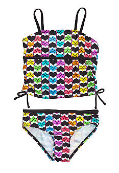 Beach Native Heart To Heart Tankini Girls 7-16