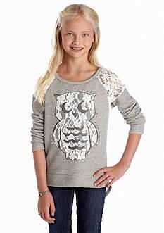 Beautees Lace Owl Sweatshirt Girls 7-16