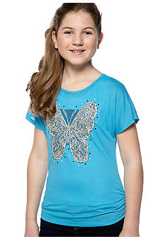 Beautees Lace Butterfly Tee Girls 7-16