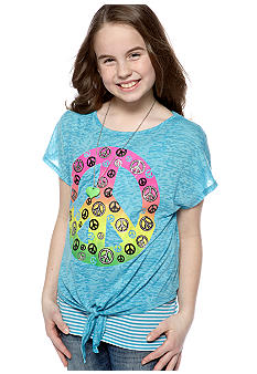 Beautees Tie Front Peace with Necklace Girls 7-16