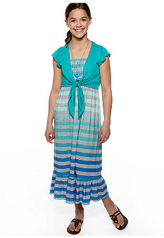 Beautees Stripe Maxi Dress Girls 7-16