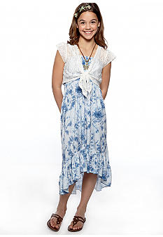 Beautees Tie Dye Maxi Dress Girls 7-16