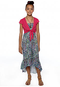 Beautees Paisley Maxi Dress Girls 7-16