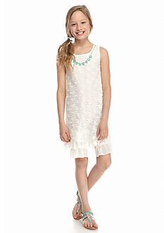 Beautees Floral Lace Swing Necklace Dress Girls 7-16