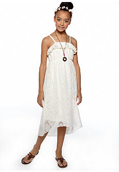 Beautees Lace Maxi Dress With Shrug Girls 7-16