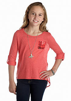 Beautees Printed Pocket Tee Girls 7-16
