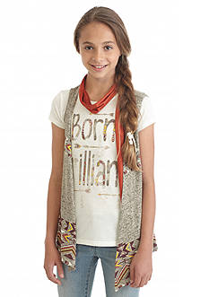 Beautees 2Fer 'Born Brilliant' Top and Vest Girls 7-16
