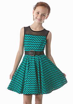 Beautees Chevron Belted Dress Girls 7-16