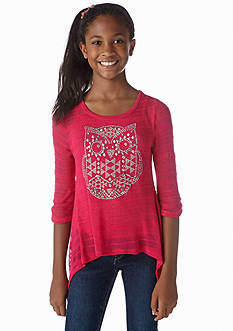 Beautees Studded Owl Top Girls 7-16