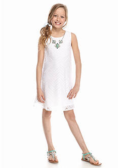 Beautees Crochet Swing Necklace Dress Girls 7-16