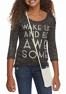 Beautees Crochet Awesome Top Girls 7-16