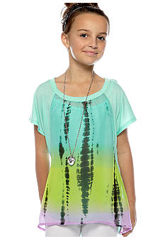 Beautees Ombre Woven Necklace Top Girls 7-16