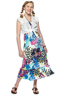 Beautees Floral Cheetah Maxi Girls 7-16