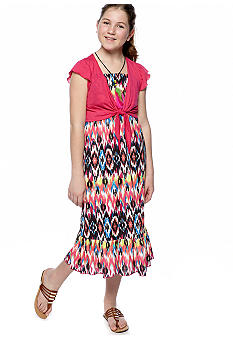 Beautees Multi Print Maxi Dress Girls 7-16