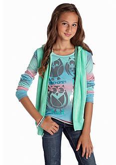 Belle du Jour Owl Tee and Woobie Vest Set Girls 7-16