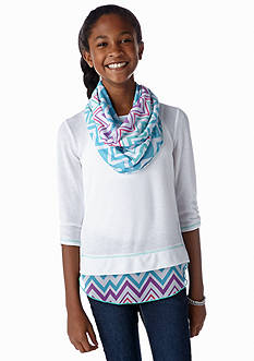 Belle du Jour Chevron Sweatshirt and Scarf Girls 7-16