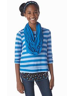Belle du Jour Stripe and Scarf Sweatshirt Girls 7-16