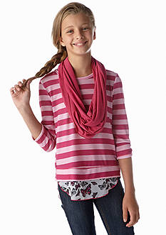 Belle du Jour Stripe and Scarf Sweatshirt Girls 7-16