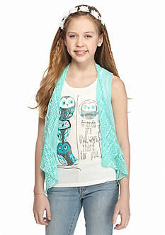 Belle du Jour 3-Piece Owl Tank, Cozy and Headband Set Girls 7-16