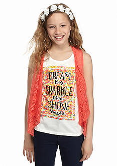 Belle du Jour 3-piece Printed Tank, Cozy and Headband Set Girls 7-16